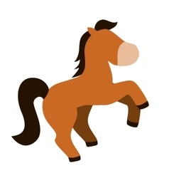 Isolated horse cartoon vector