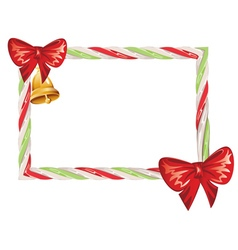 Candy cane frame2 vector