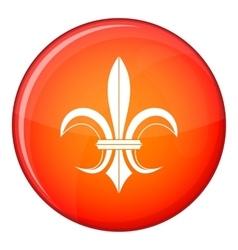 Lily heraldic emblem icon flat style vector image