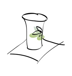 A paper cupA paper cup vector image