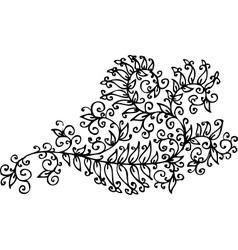 Baroque pattern vignette cxxi vector