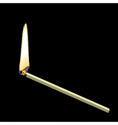 Burning matchstick vector