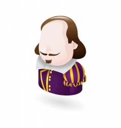 Shakespeare character icon vector