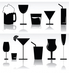 Alcoholic beverages vector