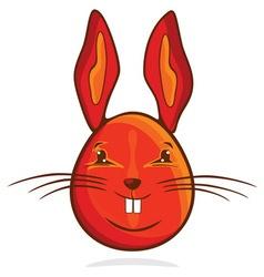 zeka jaje crveni resize vector image