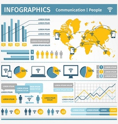 Infographics communication people vector