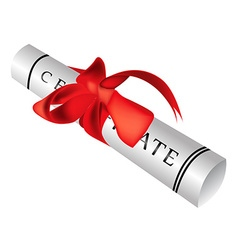 Certificate gift roll vector