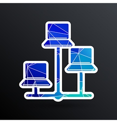 Network - icon networking wired lan web vector