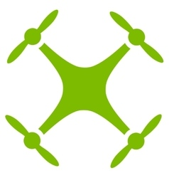 Quadcopter icon from business bicolor set vector