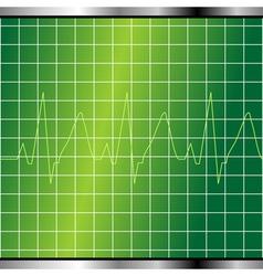 electrocardiogram monitor vector image