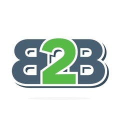 B2b letters logo business to business icon vector