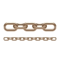 Metal chain links vector image