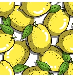 Seamless pattern lemons vector
