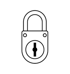 Padlock icon security and protection care vector