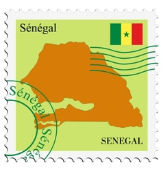 Mail to-from senegal vector