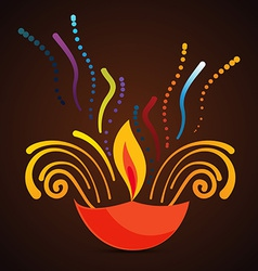 beautiful diwali diya background vector image