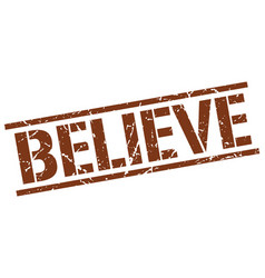Believe stamp vector