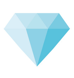 Blue diamond icon on white background blue vector