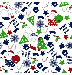 Christnas Background Seamless Wallpaper vector image