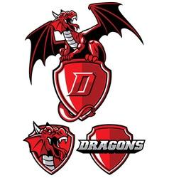 Dragon mascot set vector