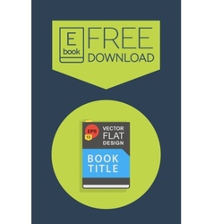 Flat ebook free download icon vector