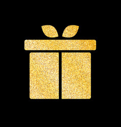 gift box of glitter golden background vector image vector image