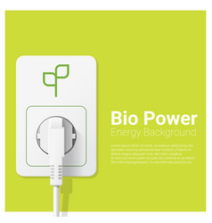 Green energy concept background with bio power vector
