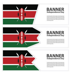kenya flag banners collection independence day vector image