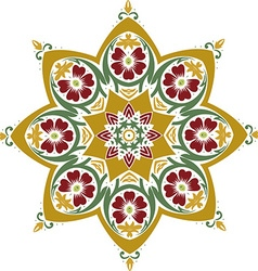 Mandala ethnic indian design vector image vector image