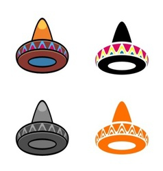 Mexican hats vector image