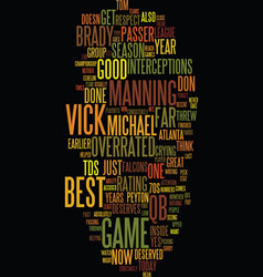 Michael vick overrated text background word cloud vector