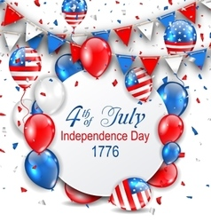 Party Background with Traditional American Colors vector image