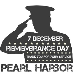 Pearl harbor remembrance day vector