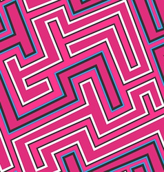 pink curve seamless pattern vector image