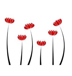 Poppy flowers vector image