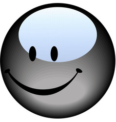 smiley face button vector image