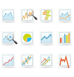 Statistics and analytics icons vector