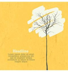 stylized tree retro background vector image