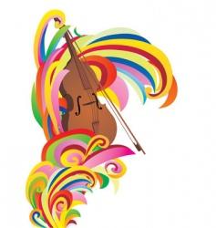 violin color curves vector image