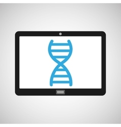 Technology device health genetics concept vector