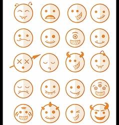 20 smiles vampires icons set color half vector