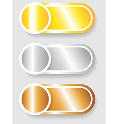 Set 3 of circle and cylinder labels vector