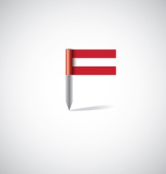 austria flag pin vector image