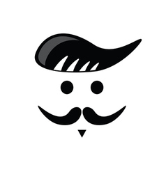 Mustache face black vector
