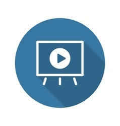 Video presentation icon business concept flat vector