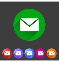 Mail post envelope icon flat web sign symbol logo vector image