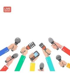 Live report concept live news hot news news vector image
