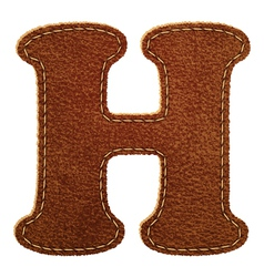 Leather textured letter H vector image