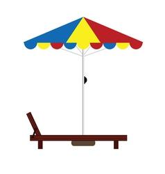 Deckchair color vector