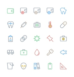 User interface colored line icons 53 vector